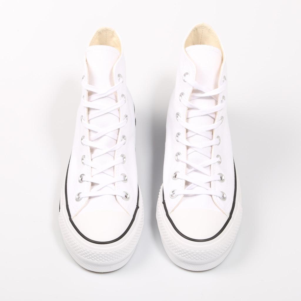 Converse Chuck Taylor All Star plate-forme propre haut blanc baskets femme chaussures décontracté 69224 - 4