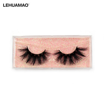 LEHUAMAO Makeup Eyelashes 3D Mink Lashes Thick Cross Fluffy Natural Long Dramatic Big Eyelash ExtensionZ01
