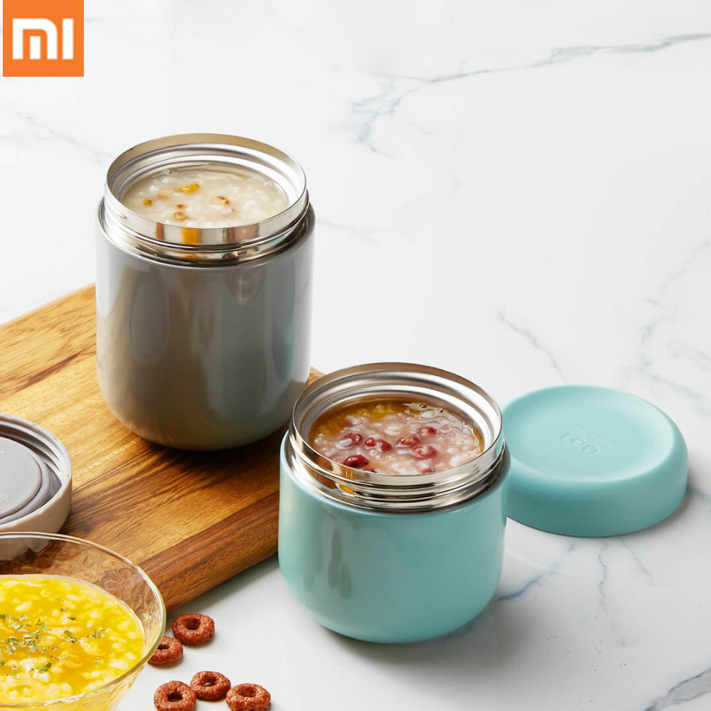 Xiaomi Mijia Mini BergHOFF Insulation Tank 350/500ml Stainless Steel Braised Beaker 6h Thermos Food Container Multi-PurposePot