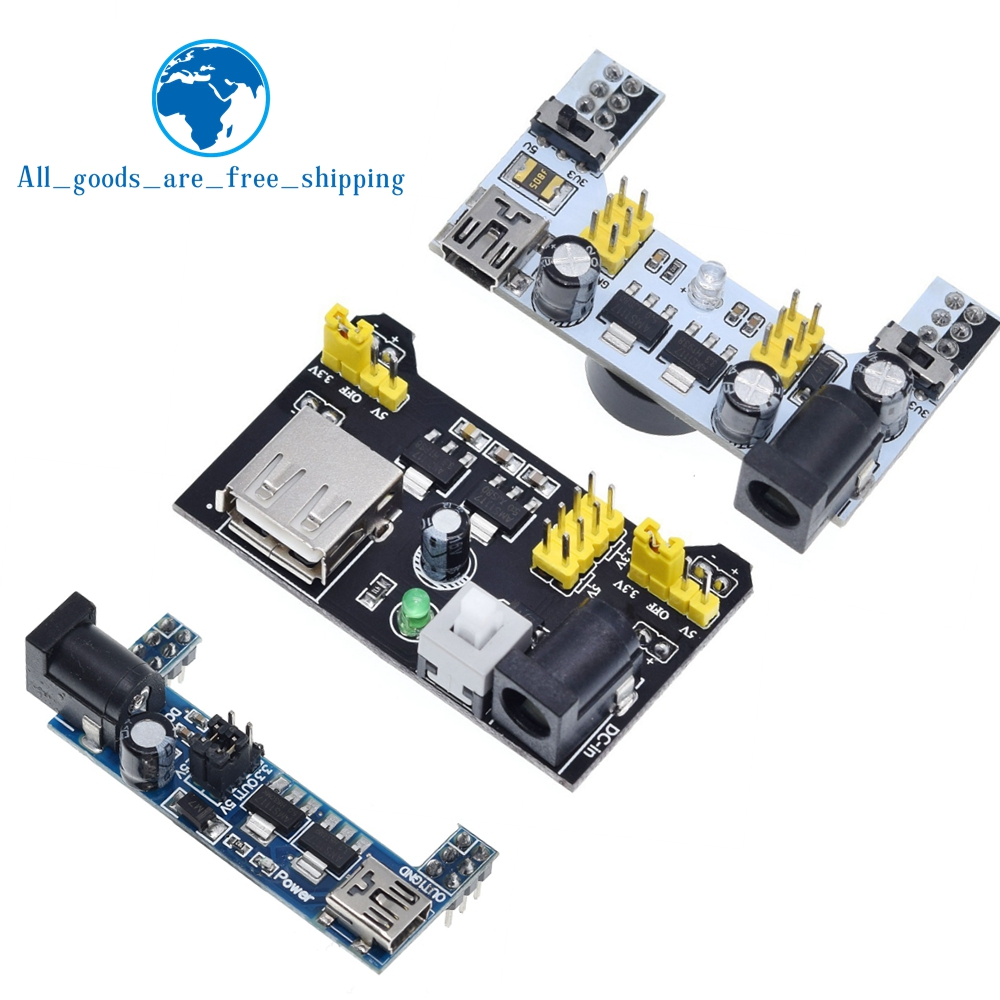 Organizer 4PCS MB102 Breadboard Power Supply Module and 9v Battery Clip with 2.1mm X 5.5mm Male DC Plug Assortment Kit for Arduino