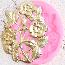 Gumpaste Moulds Cake-Decorating-Tools Flower-Leaves Cupcake Candy Clay Chocolate Fondant