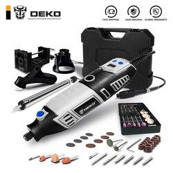 DEKO GJ201 LCD вращающийся инструмент с переменной скоростью, гравировальный станок в стиле Dremel, электрическая мини дрель с гибким валом, 3 компле...