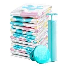 11 шт. вакуумные сумки для хранения Одежда одеяла подушки сжатый мешок герметичные сумки для экономии пространства пакет для гардероба шкаф сумка для хранения