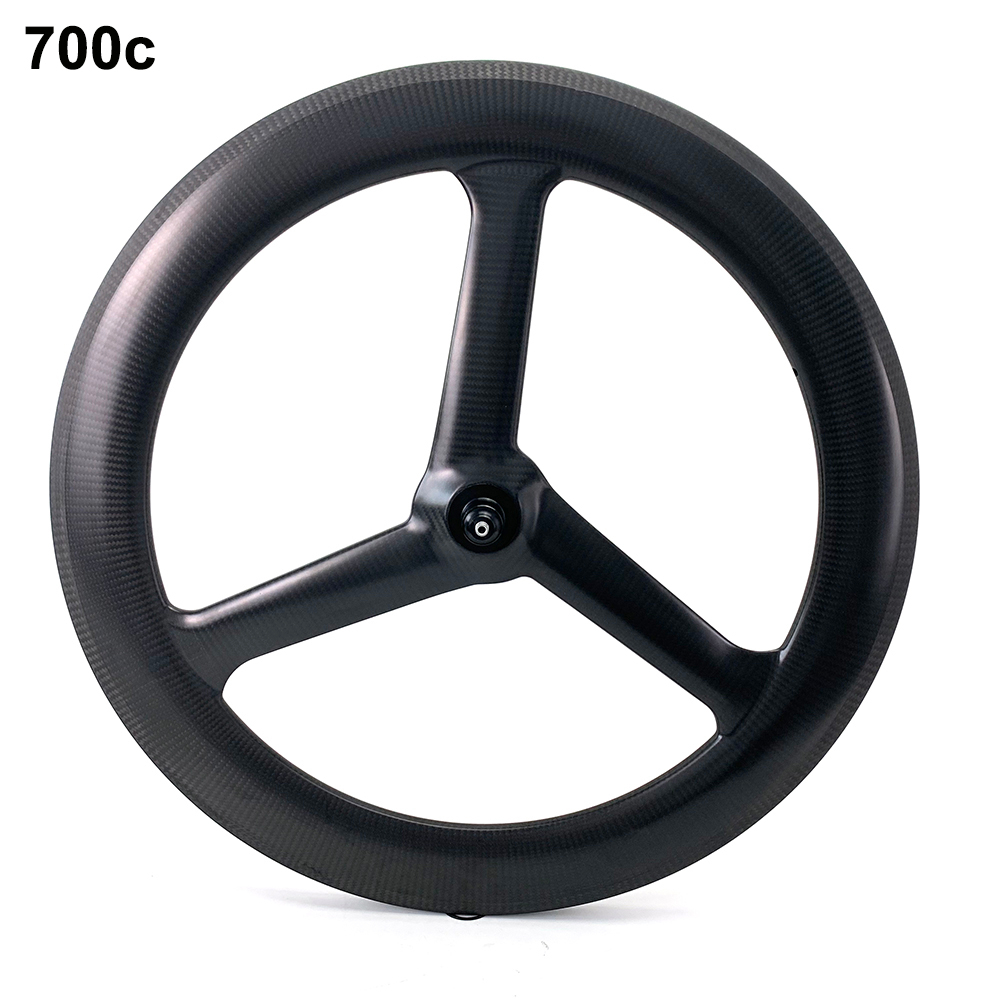 Front Tri Spoke Rear Disc Wheel Road Bike //Time Trial//Triathlon Carbon Wheelset