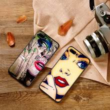 Cases For iPhone XR XS Max X 6 6S 7 8 Plus Girls Pop art Soft IMD Phone Back Cover Gift(China)