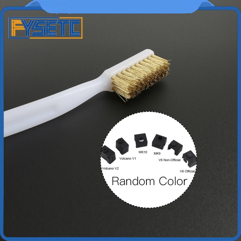 3d принтер очиститель инструмент медная проволока зубная щетка медная щетка ручка для сопла блок Hotend очистка Горячая кровать чистящие части