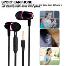 Earphone  for Mobile phone Super Bass Microphone in ear Headset 3.5mm For iphone/  xiaomi original xiaomi piston colorful version in ear earphone headset microphone headphone for iphone xiaomi