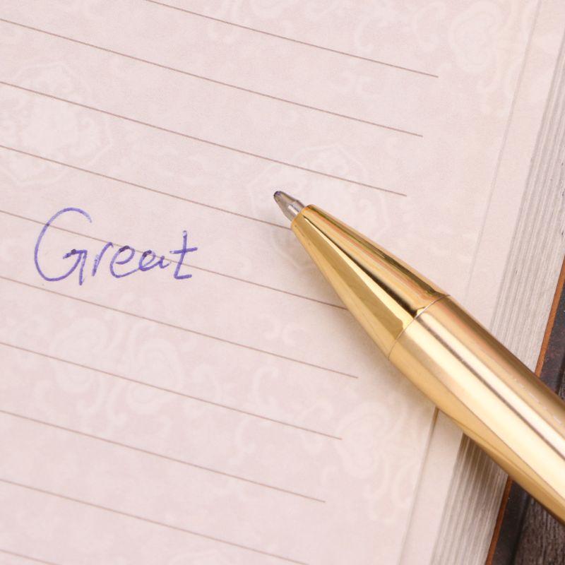 Купить с кэшбэком Rotating Metal Ballpoint Pen Office Business Signature Pens School Supplies Gift