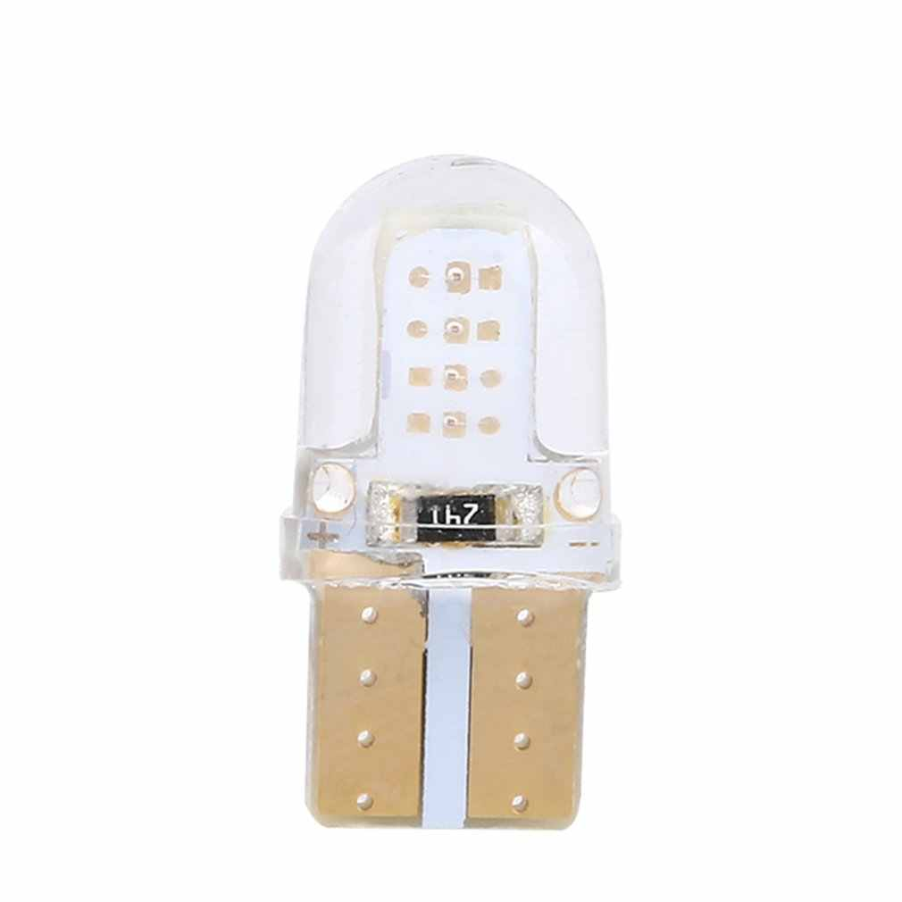 10 piezas T10 Led Interior del coche luz Cob de silicona Auto lámpara de señal de la cuña lateral aparcamiento bombilla
