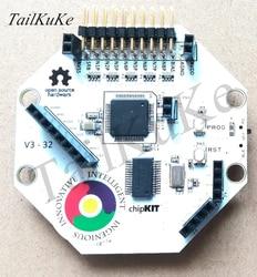 Module d'ondes cérébrales Open Source Arduino EEG OpenBCI V3-8 ou 16 canaux-Version câble officielle