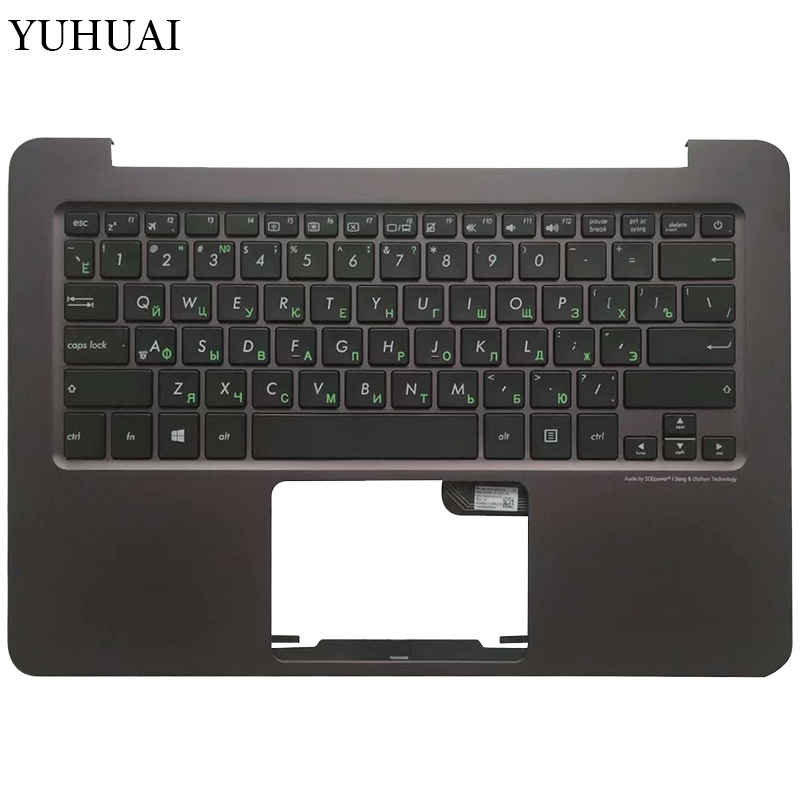 Russian Laptop Keyboard For ASUS Zenbook UX305 UX305LA UX305UA UX305CA UX305F Brown Palmrest Upper Cover