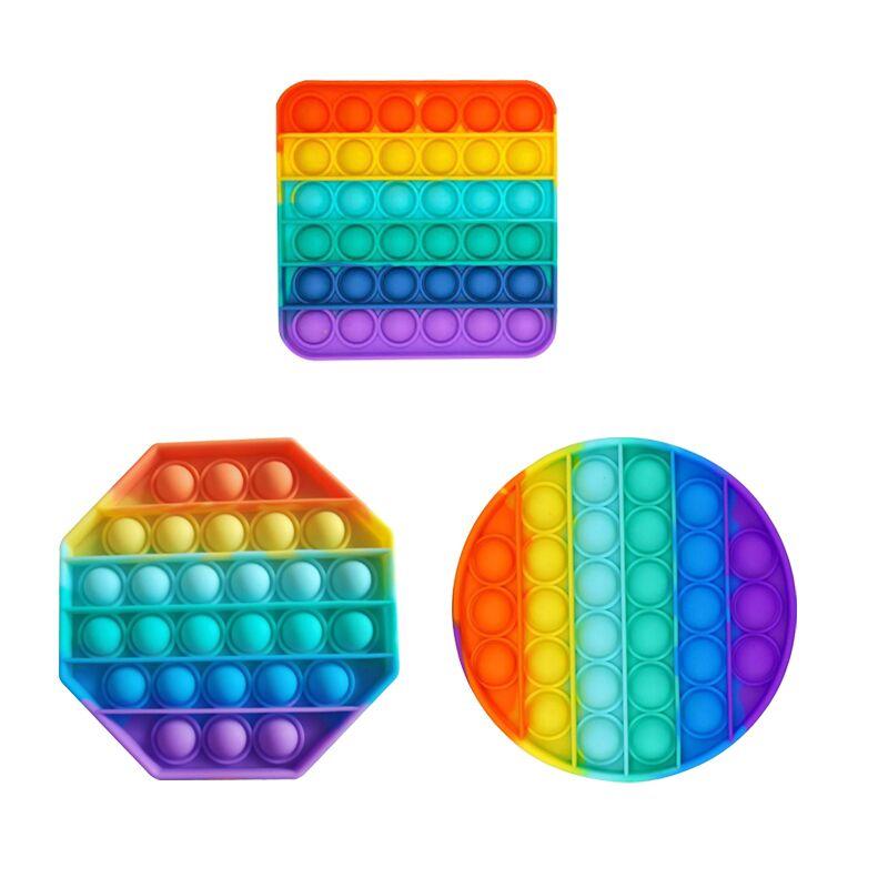 Adult Toys Autism Fidget Bubble-Sensory Anti-Stress Squishy Pop-It Push-Pops Needs Rainbow img1