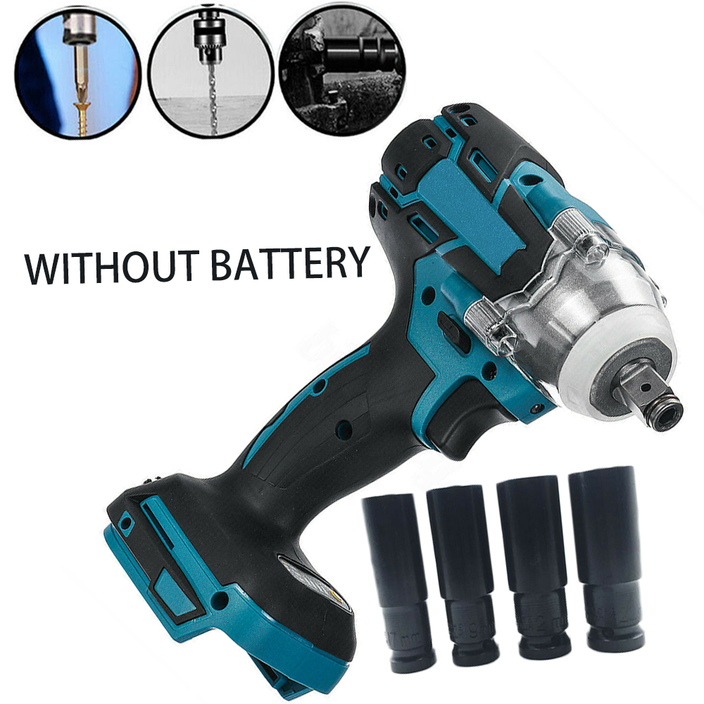 Sockets 18V 520Nm 1/2inch Cordless Brushless Impact Electric Wrench Body For Makita DTW285Z No Battery For Makita 18V Battery