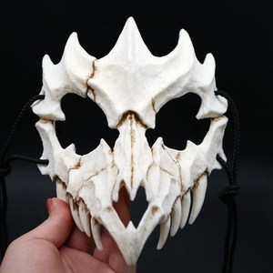 Image 5 - 17 Style Dragon God Mask Cosplay Prop Tengu Tiger Mask Halloween Resin Animal Theme Masks
