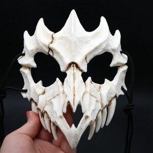 Image 5 - 17 stil Drachen Gott Maske Cosplay Prop Tengu Tiger Maske Halloween Harz Tier Thema Masken