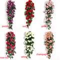 Искусственный цветок ротанга украшение в виде лианы настенные Висячие розы домашний Декор Аксессуары Украшение для свадебной двери Рождес...