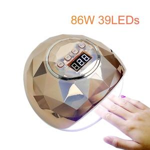 Image 2 - Neue ankunft Bunte 48W SUNONE Professionelle LED UV Nagel Lampe für nagel gel polnisch führte Nagel Licht Nagel Trockner UV Lampe