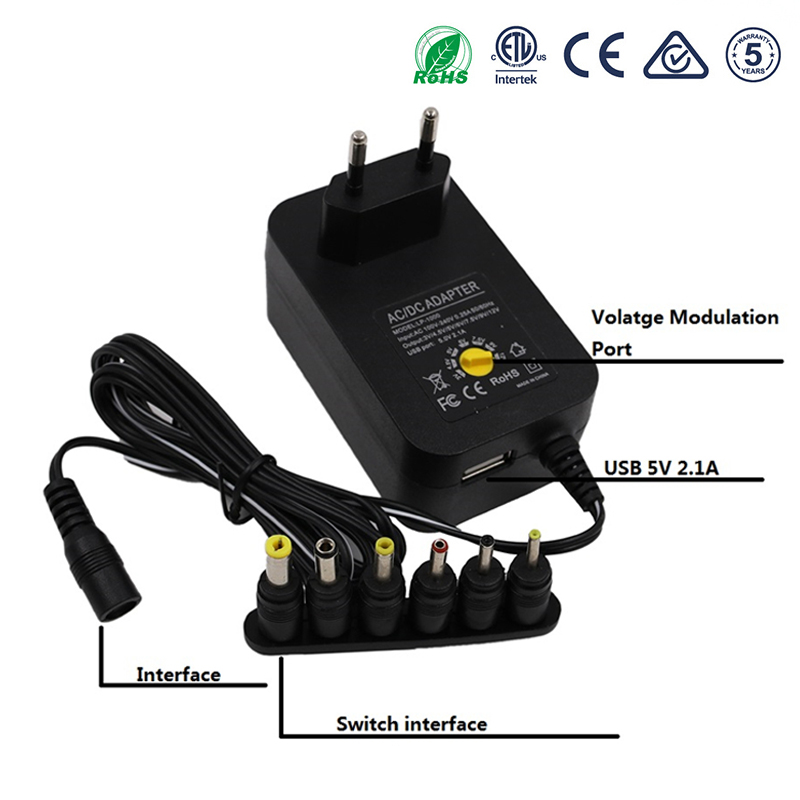 3v 4,5 v 6v 7,5 v <font><b>9v</b></font> 12v 3A 30W Universal power <font><b>adapter</b></font> Multi Spannung netzteil <font><b>Adapter</b></font> Konverter Kabel 7 Stecker <font><b>adapter</b></font> image