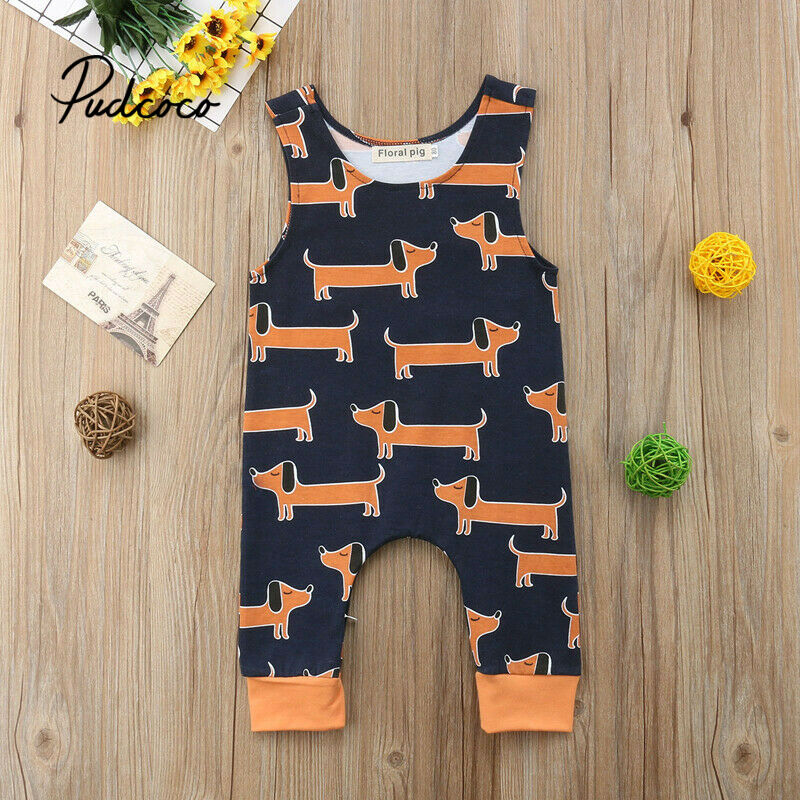 Pudcoco 2020 Spring Summer Baby Jumpsuits 0-24M New Baby Kids Boy Girl Infant Cotton Romper Jumpsuit Clothes Outfit Toddler Baby