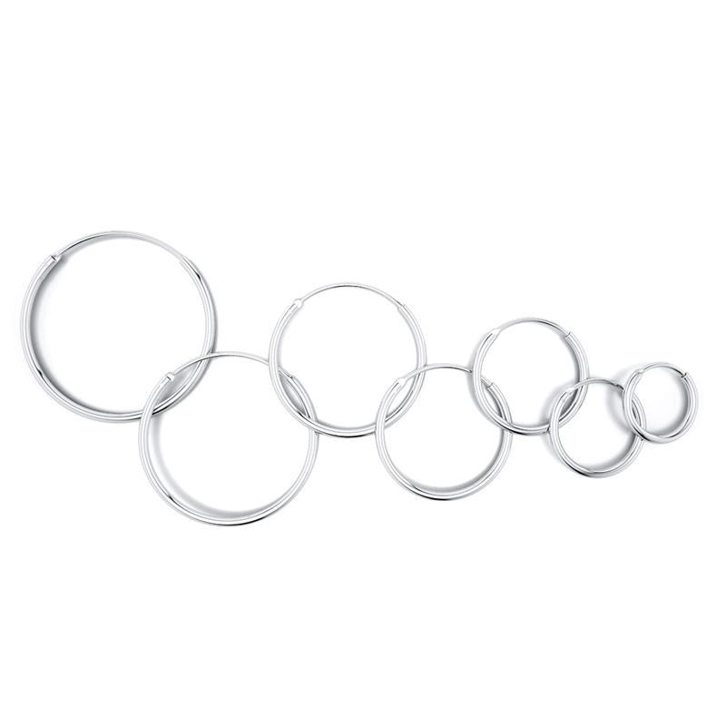 DALARAN Hoop Earrings 925 Sterling Silver Circle Round Huggie Hoop Earrings For Women Men Fashion Simple Jewelry 3