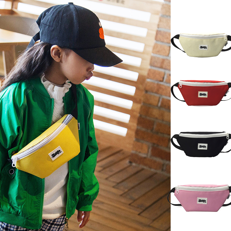 Children's Waist Bags Child Yellow Pink Mini Messenger Banana Bag Fashion Small Young Boys Girls Student's Fanny Pack On Belt