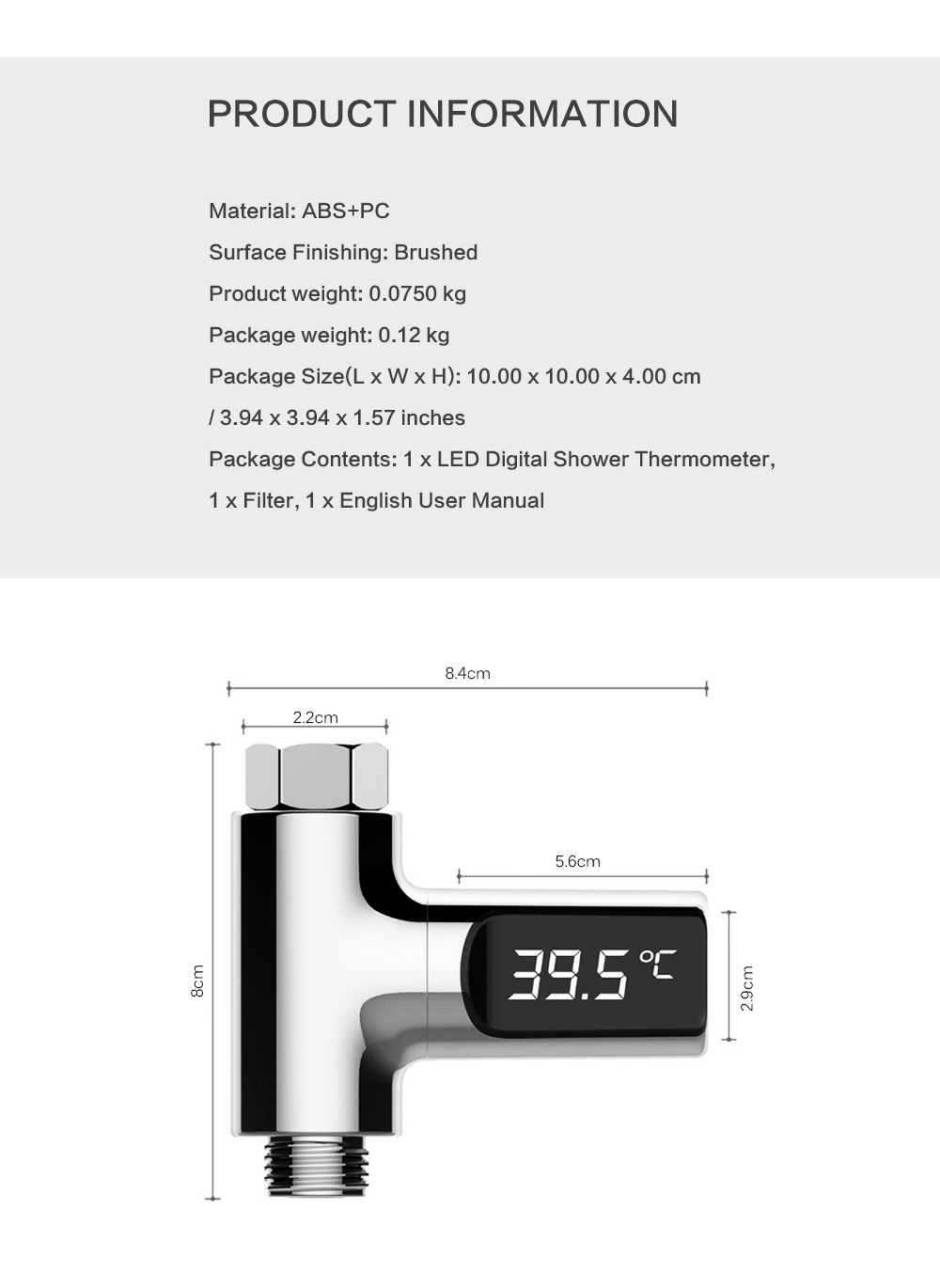 Hf20c147b6bd34df58199627a2fb21175q LED Temperature Display Bathroom Shower Faucet Electricity Water Temperature Monitor for Baby Care Digital Faucet Thermometer