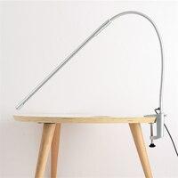 Lange Arm Tisch Lampen Clip 900 Lumen Flexible LED Schreibtisch Lampen 5V 8W 48PCS LEDs Streifen Licht USB 11 zoll Draht Nordic Schreibtisch Lampe-in Schreibtischlampen aus Licht & Beleuchtung bei