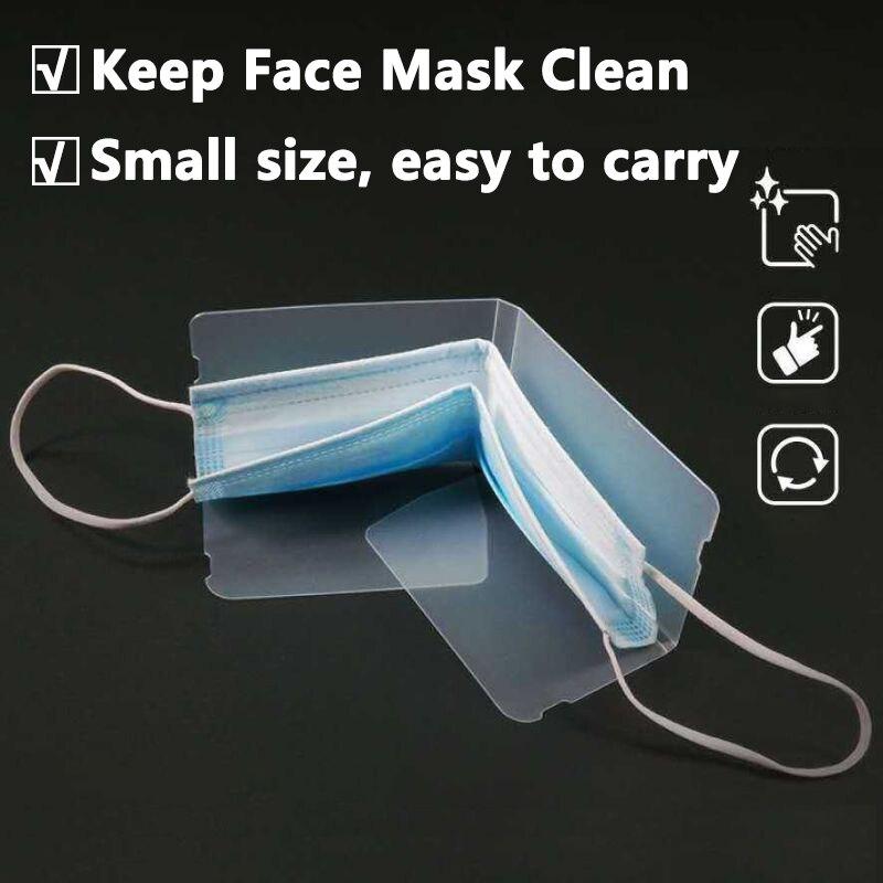 20 шт. портативные складные маски для лица коробка для хранения зажим Пылезащитная маска чехол переработка мини одноразовые маски органайзе...