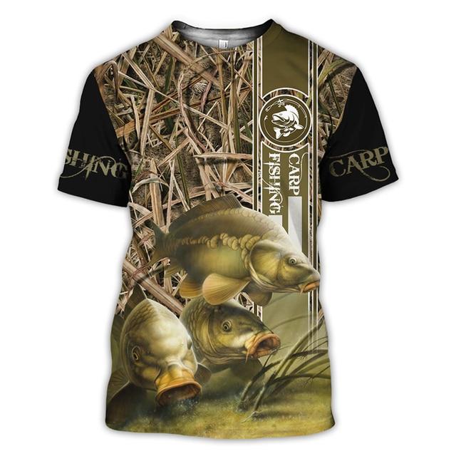 Carp and camo Fishing T Shirt All Over Print