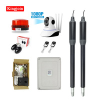 KINGJOIN Cost effective For home use 200kg Dual Swing Gate Opener Kits with wifi camera Optional Remote monitoring gsm relay doo