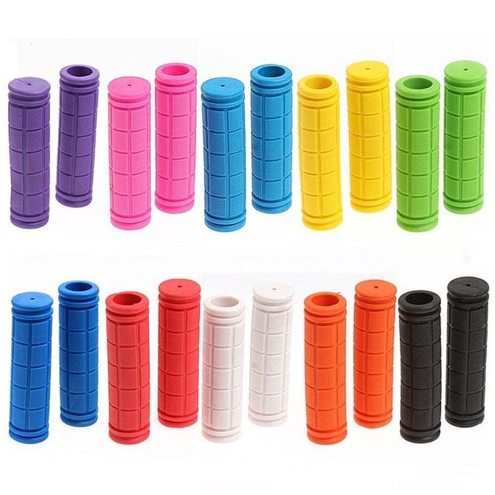 1 Pair Color Rubber <font><b>Bicycle</b></font> Grip Handlebar Set Mountain Bike Handle Non-Slip <font><b>Bicycle</b></font> Handle 12cm <font><b>Bicycle</b></font> <font><b>Parts</b></font> <font><b>Bicycle</b></font> Equipment image