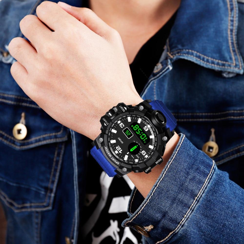 Hf20c30aff8974fc0a90aaec719508f885 HONHX Casual Sport Luxury Mens Digital LED Watch Date Sport Men Outdoor Electronic Watchelogio digital New Fashion Wristwatch #D