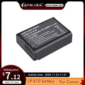 PALO LP-E10 LPE10 LP E10 camera battery for Canon EOS 1100D 1200D 1300D 2000D 4000D Rebel