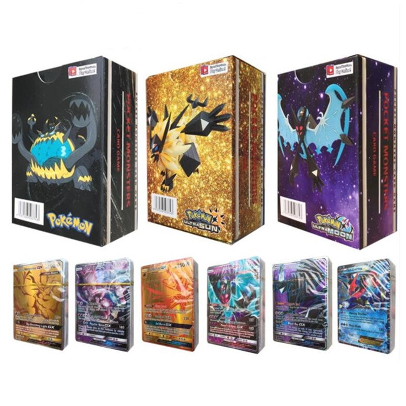 300pcs 295GX 5MEGA non repeat Shining Cards Game Battle Carte Trading Children Pokemon card Toy