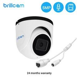 Brillcam poe câmera ip 5mp câmera de vigilância de vídeo de segurança de detecção humana câmera ip ao ar livre dome indoor onvif para nvr sistema
