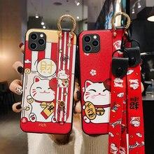 מזל חתול 3D הבלטה טלפון מקרה עבור Huawei P20 P30 P40 Mate 10 20 30 לייט פרו כבוד 8X 9 10 20 30Pro רך כיסוי שרוך Coque