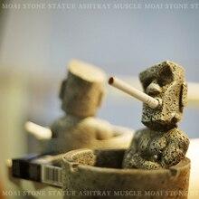 Vintage Pascua piedra retrato resina Cenicero hogar cigarrillo accesorios Bar sala de estar coche novio regalo creativo