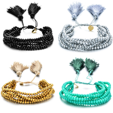 Bohemian Miyuki Charm Multi Layered Bracelets For Women Boho Crystal Seed Beads Bracelets Jewelry Party Gift цена 2017