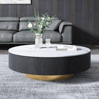 New Fashion Marble Italian SINTERED STONE Round Luxury Coffee Table  1
