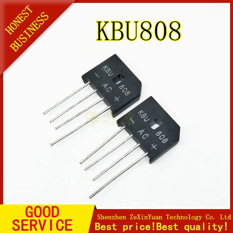 5PCS/LOT  8A 800V Diode Bridge Rectifier Kbu808