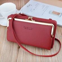 Moda feminina bolsa de embreagem couro saco do telefone móvel versátil crossbody sacos de ombro feminino longo carteira titular do cartão bolsas