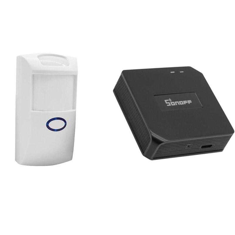 Sonoff Wifi RF Bridge Signal Converter PIR 2 Sensor DW1 Door Alarm Sensor Home Automation Switch With eWelink Alexa Google Home