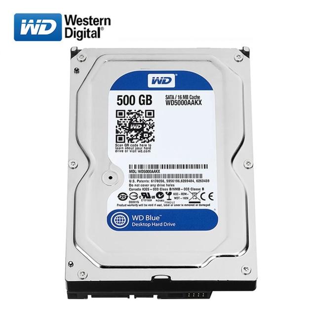 "WD 500GB desktop computer 3.5"" internal mechanical hard drive SATA 250/320/500GB 1/2/3/ 4TB 6Gb/s hard drive for Desktop 1"