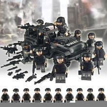 12 teile/satz Legolying Bausteine Military Special Forces Soldaten Gebäude Ziegel Figuren Gun Waffen Mini Spielzeug Geschenk für kinder