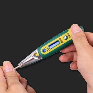 Nowy cyfrowy długopis testowy cil Tester elektryczny wyświetlacz LCD śrubokręt czujnik napięcia długopis testowy AC DC 12-250V dla elektryk narzędzia