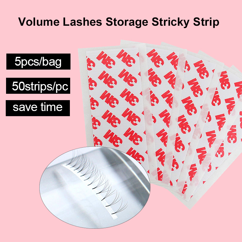 Yelix 250 Strips Fast Volume Fan Tapes For Eyelash Extension Supplies Volume Lashes Storage Sticky Strip Eyelashes Tools