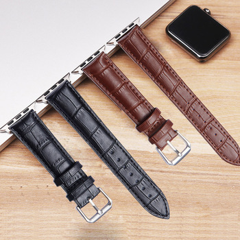 High quality Leather loop for Apple Watch Band Series 4 3/2/1 Sport Bracelet 42 mm 38 mm Strap For iwatch 5 Band 40mm 44mm недорого