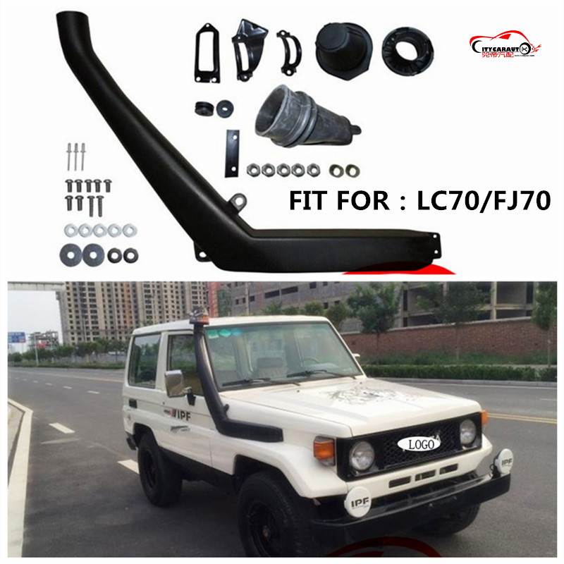 CITYCARAUTO SUV 4*4 AIRFLOW LAND CRUISER LC70 LLDPE SNORKEL FOR LC70 Air Intake LLDPE Snorkel Kit Set FIT LANDCRUISER LC70 CAR image