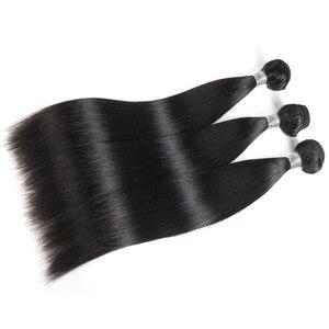 """Image 5 - עלי מלכת שיער פרואני ישר רמי שיער טבעי אריגת 1/3/4Pcs טבעי צבע M/7A 10 """" 26"""" שיער טבעי וויבס צרור"""