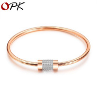 Brand women accessories Bracelet women wrap bracelet titanium steel rose gold magnetic absorption Bracelet heart gifts jewelry